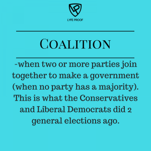 If a party doesn't have enough votes, then it needs to team up with another party to work together so that laws can be passed .. #TEAMWORK